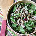 Salade de lentilles et bulghour