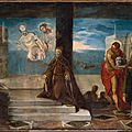 <b>Jacopo</b> <b>Tintoretto</b>, Doge Alvise Mocenigo (1507–1577) Presented to the Redeemer, probably 1577