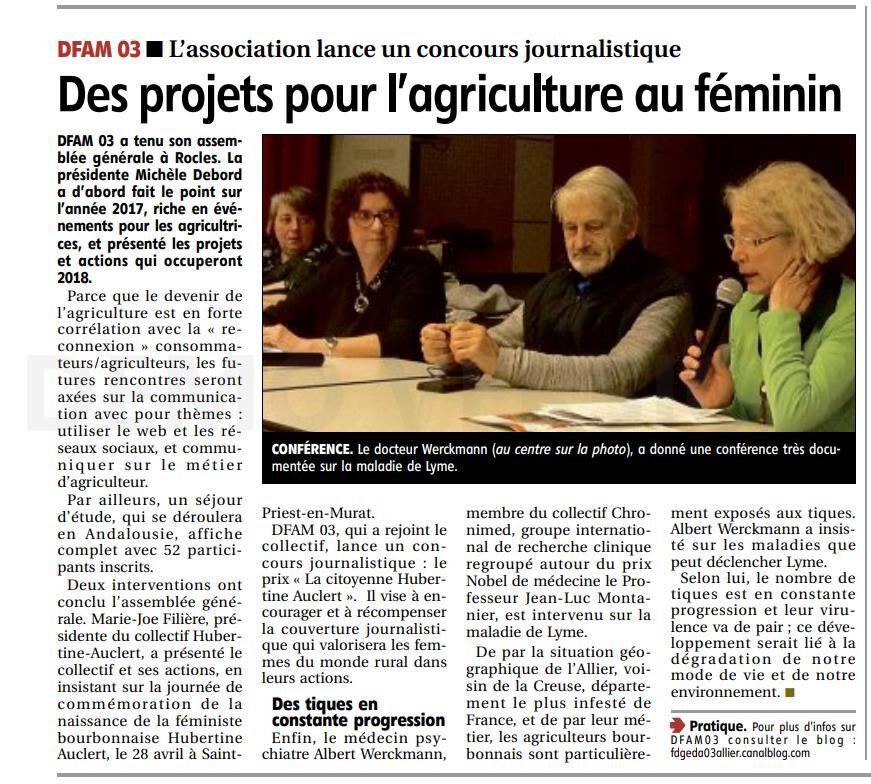 """Une assemblée générale riche en activités et projets... La Montagne """"Des projets pour l'agriculture au féminin"""""""