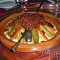 Préparation de la idee recette couscous marocain tfaya