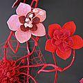 scultpure Fleurs Nathalie Dentzer - détail