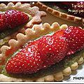 Tartelette fraise pistache