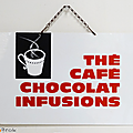 Vintage ... ancienne pancarte the cafe chocolat infusions