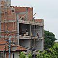 le chantier d'Astérix 2 vue de l'autre balcon
