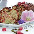 Gâteau aux pralines roses et pistache.....