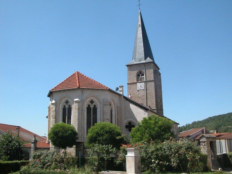 Eglise de LAY ST CHRISTOPHE où naquit St ARNOUL