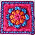 Crochet : carré gelsomina
