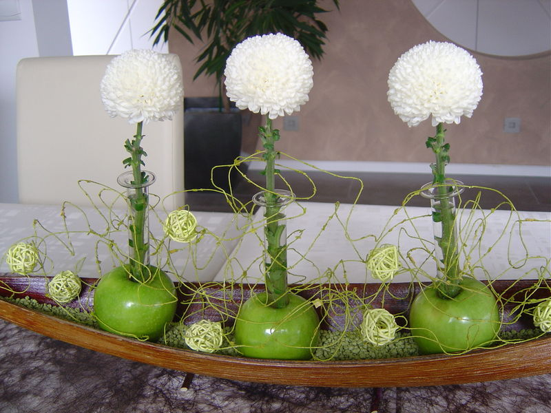 idee deco de table pommes vertes lutin 39 s scrap cook