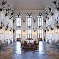 Une des salles du chateau, chateau de chasse...