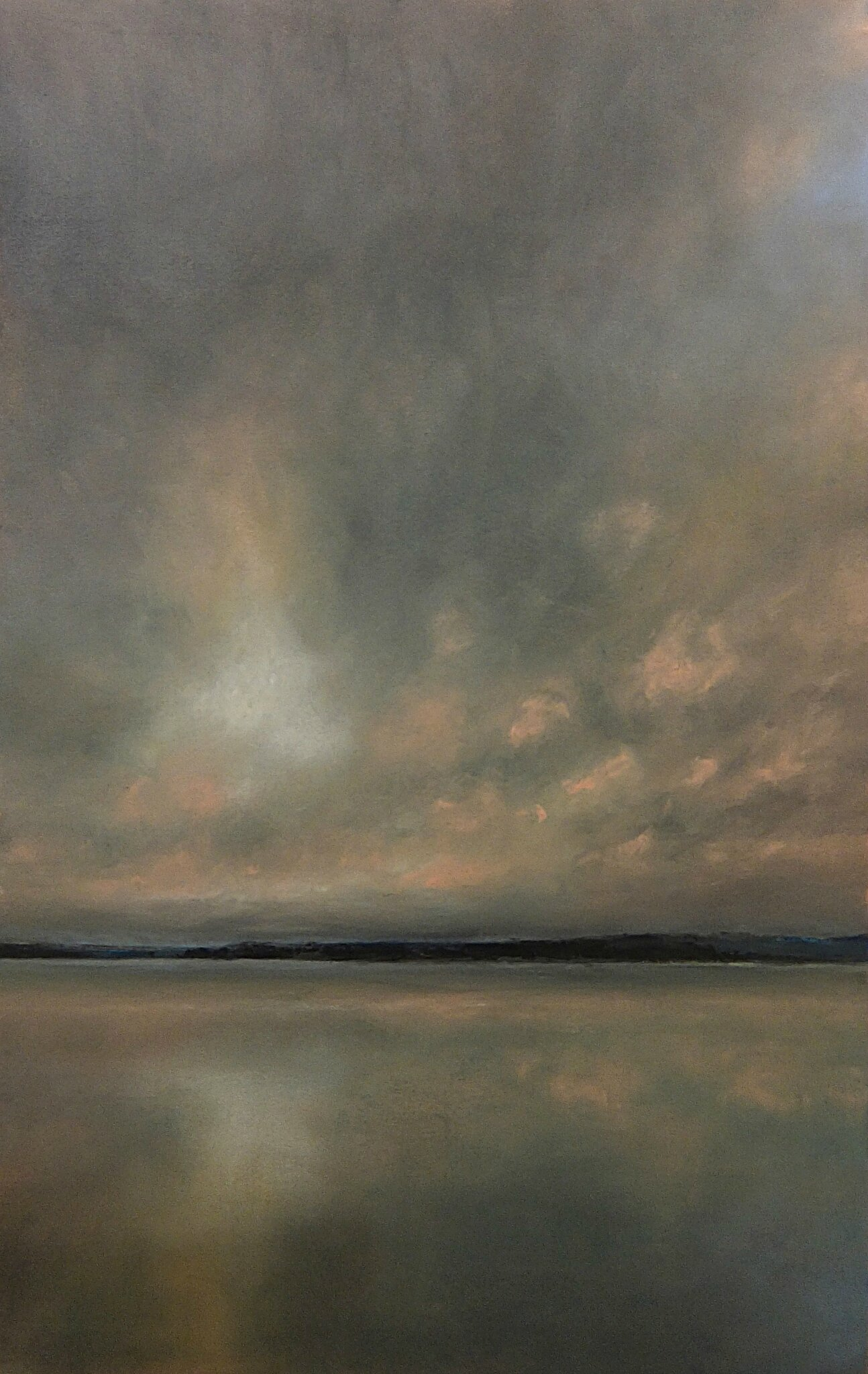 horizon elevation 37, nov 2015, pastel, 32 x 48 cm.