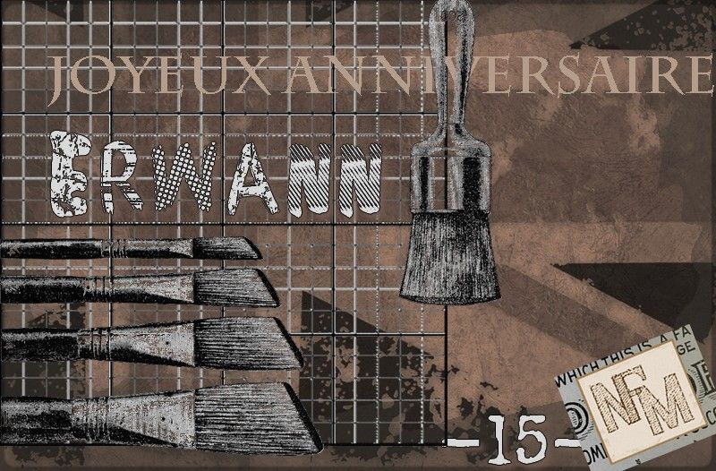 Carte anniv Erwann 15ans