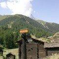 Le village de Blatten avec le Cervin qui se cache