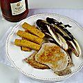 Filet de porc au ratafia champenois, trévise grillée et polenta croustillante