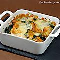 Cassolettes de blettes poulet et abondance