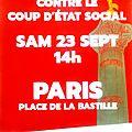Somme - plusieurs cars pour paris : marche du 23/9 contre le coup d'etat social