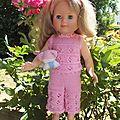 Tenue pour les poupées <b>Marie</b>-<b>Françoise</b> de Petit Collin dite aussi Modes et travaux