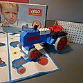 Lego, la boîte 316 (set 316), un petit tracteur de 1963 tout frêle et désuet !