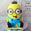 Gateau minion 3d