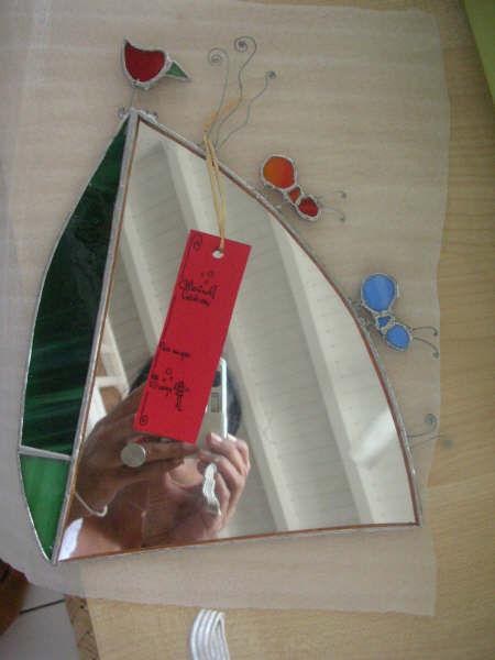 Miroir Oizô & fourmi vitrail