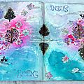 Art journal.. 'topsy turvy' - un peu d'art journal.. en miroir