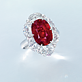 An important <b>ruby</b> and diamond ring