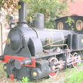 Vieille locomotive d'époque