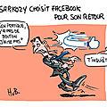 Sarkozy choisit facebook pour son retour