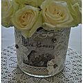 Déco: pot dentelle so shabby!