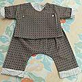 Un petit air de déjà vu...sarouel et kimono bébé
