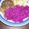 Une autre version de chou rouge.....en salade pour mettre un peu de couleur dans notre assiette et de saveur aussi!!!!!