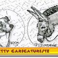 Caricature animaux - coton de tuléar, ânnesse, berger australien, lhassa apso