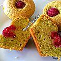 Muffins pistaches-framboises.....