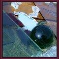 Billes en verre - Déchets morceaux de verre sur sable - Valorisation Matière verre