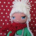 Amigurumi poupée au crochet, petite blonde...
