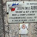 AUBRAY Joseph Emile (Prissac) + 25/07/1918 Villemontoire (02)
