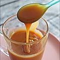 <b>Sauce</b> au caramel beurre salé ou nature maison...