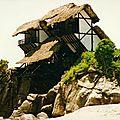 un peu suspendue ma cabane sur les rochers yurtao