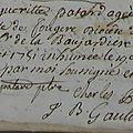 Me Charles Pitot: Patard Marguerite décédée 1751