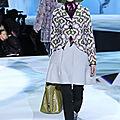 Winter # 12 ... marc jacob * vert, violet, crochet