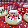 Biscuits bonhomme de neige