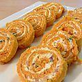 Roulé de carotte au fromage frais - sans gluten