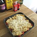 Crumble tomates et parmesan