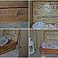 Epicerie et compagnie pour une boîte à madeleines restaurée !