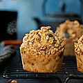 Muffins à la pomme & granola aux <b>épices</b> douces #sanslactose