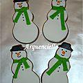 Biscuits bonhomme de neige Noël