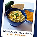 Salade de chou blanc à la mangue
