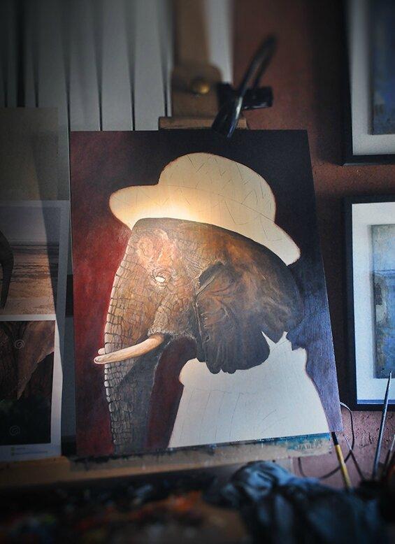 Work in progress. Charles VII elephant