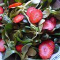 Salade de mâche et fraises