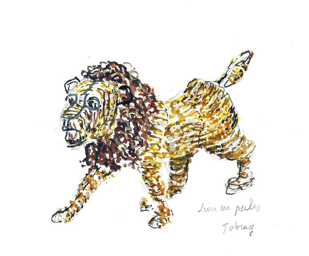 Artisanat le petit lion en perles joburg