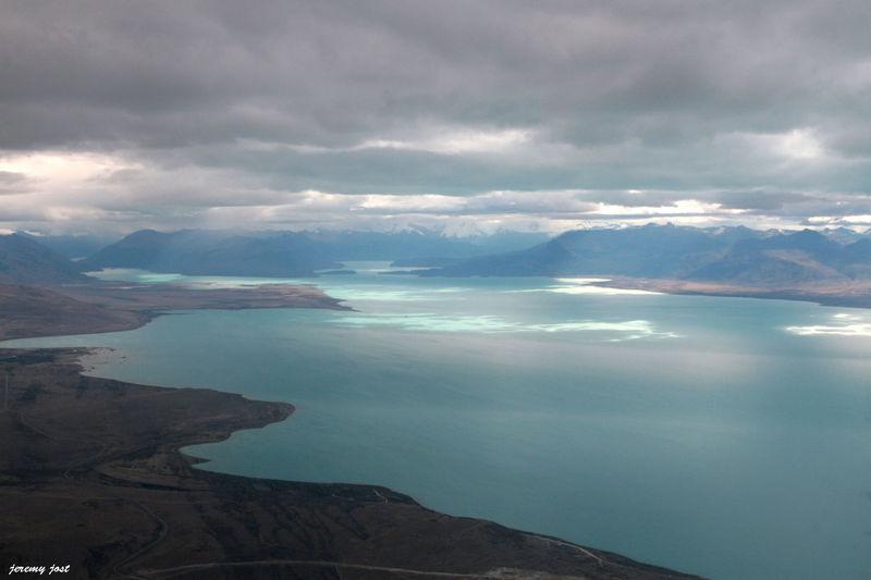 lago argentino vu du ciel